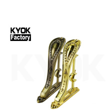 KYOK windows accessories brass curtain rods and brackets ,28*19mm double brass curtain pole brackets