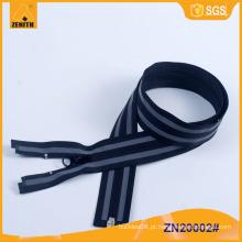 Reflexivo Zipper-Best venda quente acessórios de vestuário para zipper fábrica ZN20002