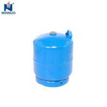 3 kg pequena garrafa de aço, cilindro de gás lpg, tanque de gás portátil, butano