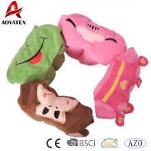 100% Baumwolle Tier Cartoon Design Baby-Kapuzen-Decke