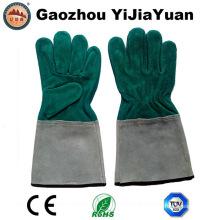 Protección de cuero Soldadura industrial Guante de trabajo para soldador