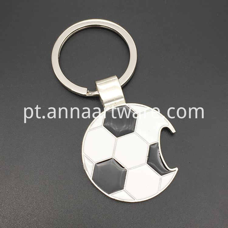 Football Keychain With Bottle Opener 02