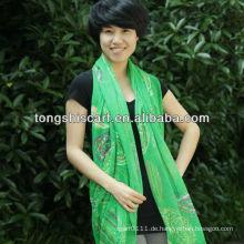 Mode bedruckt bunten Voile Schal