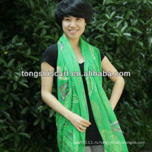 мода отпечатано красочные шарф вуаль