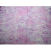 O algodão do Ramie imprimiu as telas lisas tingidas fio (DSC-4156)