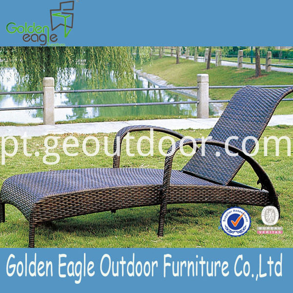rattan aluminium garden lounger furniture