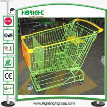 Carrinho de compras de supermercado com melhores rodas