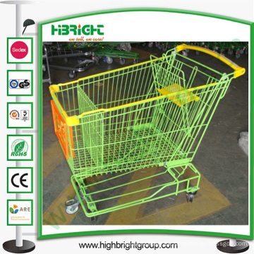 Carro de la compra del supermercado con las mejores ruedas