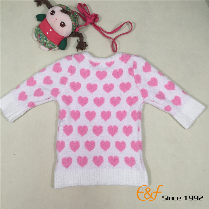 polyester yarn knitted girl sweater