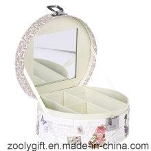 Caixa de presente impresso do cosmético / caixa de música do papel promocional com espelho e fechamento