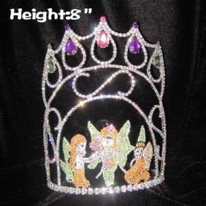 8in Height Custom Fairy Pageant Diamond Crowns