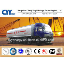 China LNG Liquid Oxygen Nitrogen Tank Car Semi Trailer