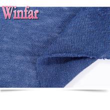 Tissu jersey tricoté en mélange de coton et de chanvre