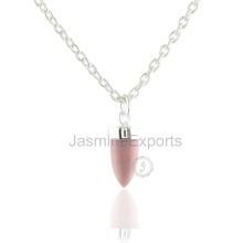 Ручной Работы Розовый Опал Драгоценных Камней 925 Серебряный Ювелирных Изделий