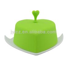 керамическая масленка с крышкой
