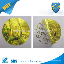 Анти-поддельная золотая / серебряная голограмма