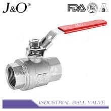Alta cantidad 2PC 1000wog Válvula de bola de acero inoxidable