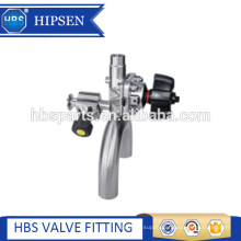 U type three way stainless steel diaphragm valve