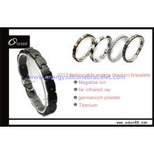 Black / White / Pink Magnetic Titanium Bracelets Can Improve Blood Circulation