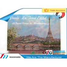 travel in Paris eiffel tower tourist souvenirs iron tin metal fridge magnet