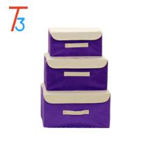 Оптовые картонные декоративные ящики для хранения / складная коробка для хранения / коробка для хранения ткани