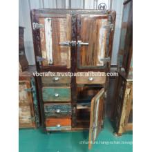 Fridge Design Recycle Wood Cabinet