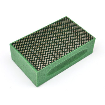Electroplated Nickel Bonded Diamond Hand Glsss Stone Polishing Pad