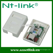 Single Port Cat5e STP RJ45 Aufputzdose