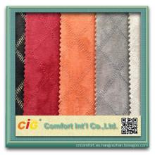 El llano popular de la moda borda la tela de la microfibra de los diseños para el sofá