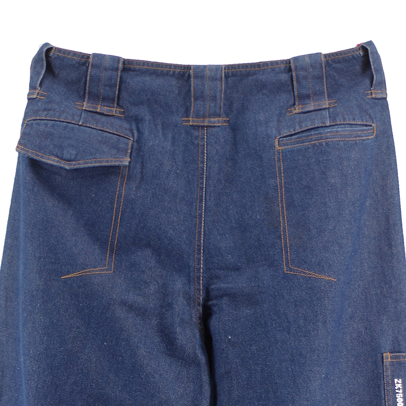 Short Dark Blue Jeans Pants for Man