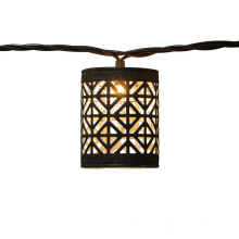 Dekorative wasserdichte metallbraune LED-Lichterkette