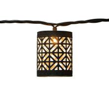 Decorativo à prova d'água de metal marrom LED String Light