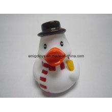 Pato branco da neve para o feriado