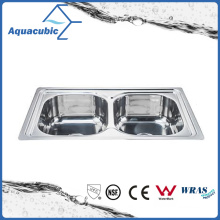Above Counter Stainless Steel Moduled Kitchen Sink (ACS-7848D)
