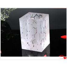 Support de stylo en verre cristal décorations de bureau de haute qualité