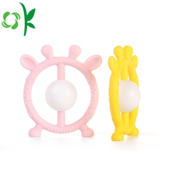 Promotion Antlers Design Round SiliconeTeether för babyer