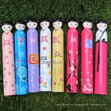 Japanische Puppe Stil schöne Flasche Regenschirm (YSB002B)