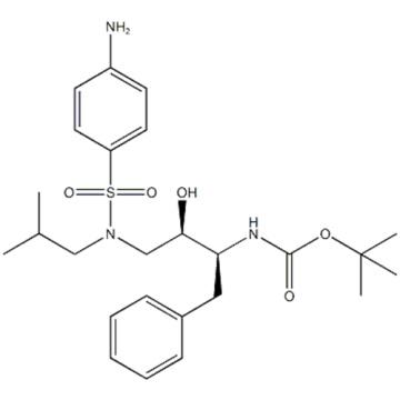 Name: Carbamic acid, N-[(1S,2R)-3-[[(4-aminophenyl)sulfonyl](2-methylpropyl)amino]-2-hydroxy-1-(phenylmethyl)propyl]-,1,1-dimethylethyl ester CAS 183004-94-6
