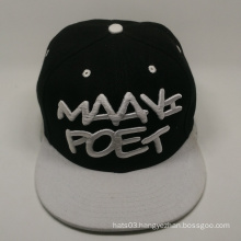 Plain design 3d embroidery hip hop cap