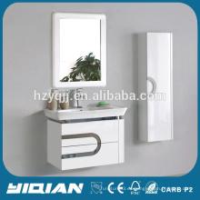 Nuevo gabinete de cerámica de lavabo de lavado de mano de diseño gabinete montado en la pared de lavabo de lavabo de baño de PVC