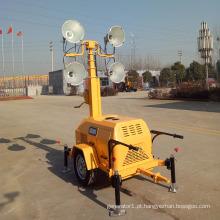 Tipo reboque móvel torre leve 7m gerador diesel torre de luz FZMTC-1000B