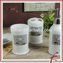 hot sell 4 pcs Ceramic Stoneware Bathroom Set
