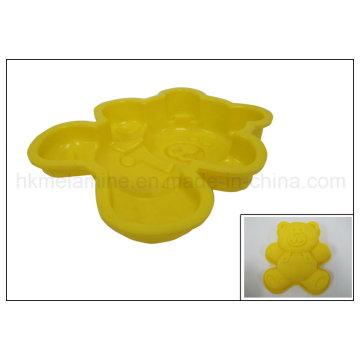 Molde em forma de urso em forma de bolo de silicone (RS24)