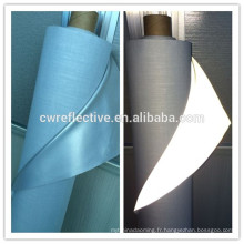 Tissu imperméable à la mode de veste de recyclage en nylon réfléchissant imperméable de couture douce