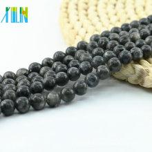 L-0100 Granos naturales de la piedra preciosa de la labradorita negra al por mayor de Bling para la fabricación de la joyería