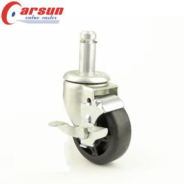 5inches Medium Duty Grip Anel Stem Roda Wheel Wheel de alta temperatura com freio lateral