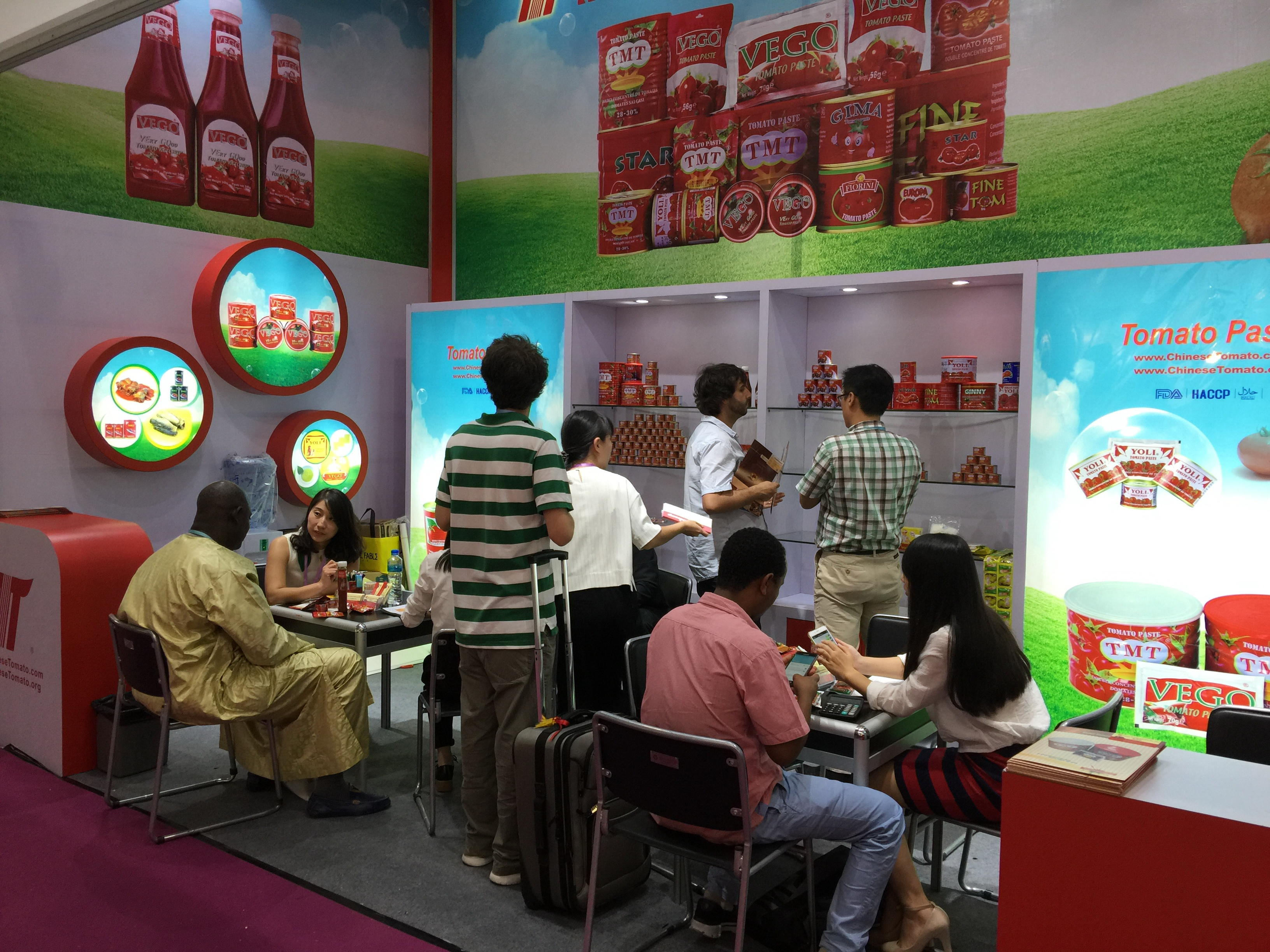 tomato paste trade fair gulfood