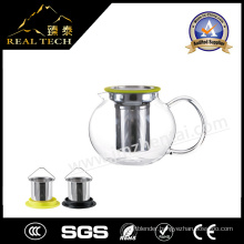 High Quality Heat Resistant Glass Teapot with Filter on Sale