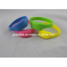 Inseto do bracelete do mosquito do silicone do verão anti usado ao ar livre