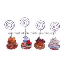 Poly Resin Pot Decor Paper Card Holder